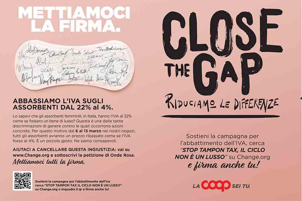 """La Coop lancia la campagna """"Close the Gap- riduciamo le differenze"""""""