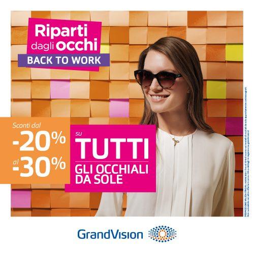 Promo GrandVision: Riparti dalla tua voglia di sole!