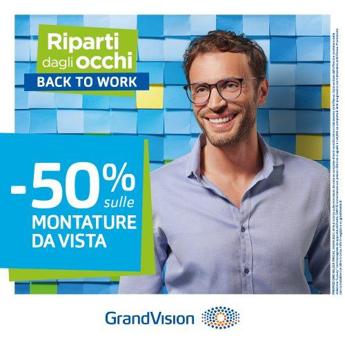 Promo GrandVision – Back to work: riparti dagli occhi!