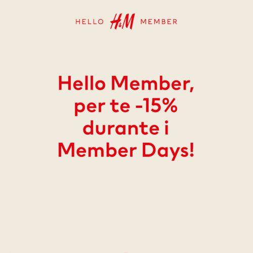 Promo Member Days H&M